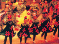 "Performance of the ecology musical ""Kumagon no Mori"" (until 1999)"
